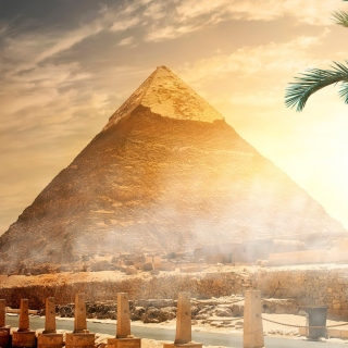 Egypt pyramid Ginza Wonders of World Background for iPad 3