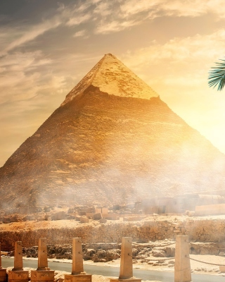 Egypt pyramid Ginza Wonders of World sfondi gratuiti per Nokia Lumia 800