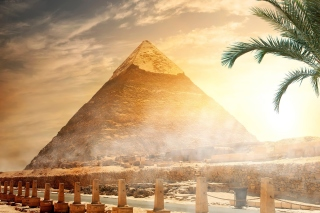 Egypt pyramid Ginza Wonders of World sfondi gratuiti per Samsung Galaxy Ace 3