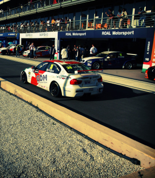 Bmw Racing Wallpaper for 240x320