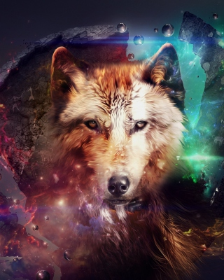 Magic Wolf Background for Nokia C1-01