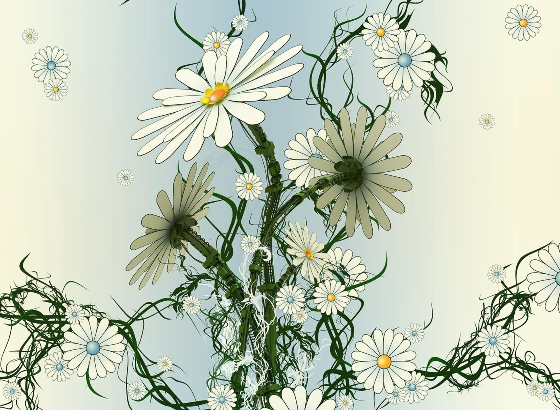 ромашки узор chamomile pattern бесплатно