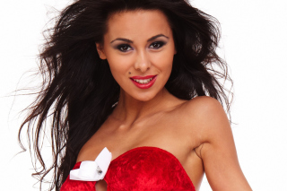 Free Girl in Red Dress Picture for Android, iPhone and iPad