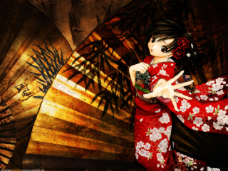 Toujou Aya In Kimono Wallpaper for Android, iPhone and iPad