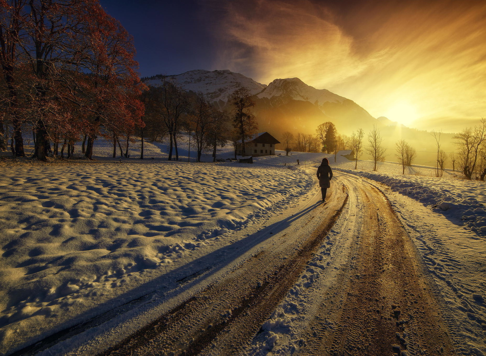 Winter Sunrise wallpaper 1920x1408