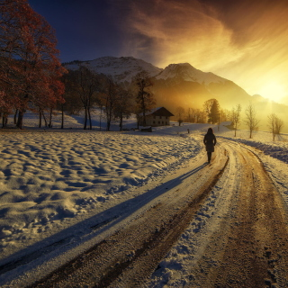 Winter Sunrise Background for LG KP105