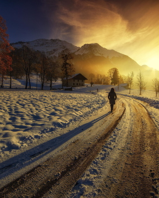 Winter Sunrise Background for Nokia C1-01