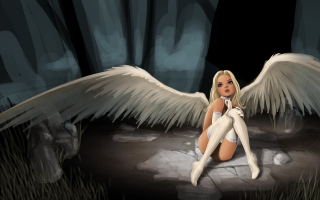 Free White Angel Picture for Android, iPhone and iPad