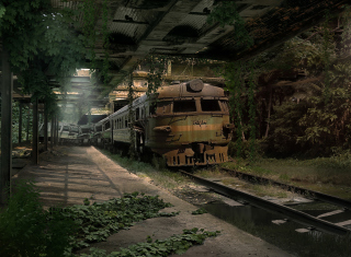 Abandoned Train Picture for Android, iPhone and iPad
