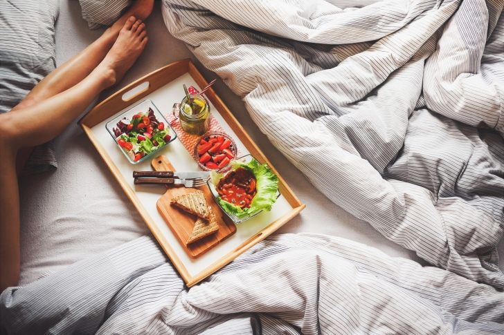 Breakfast in Bed wallpaper