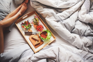 Breakfast in Bed Wallpaper for Android, iPhone and iPad