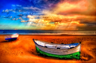 Kostenloses Seascape And Boat Wallpaper für Sony Xperia Tablet Z