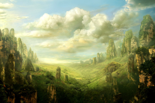 Fantasy Landscape Background for Desktop Netbook 1024x600