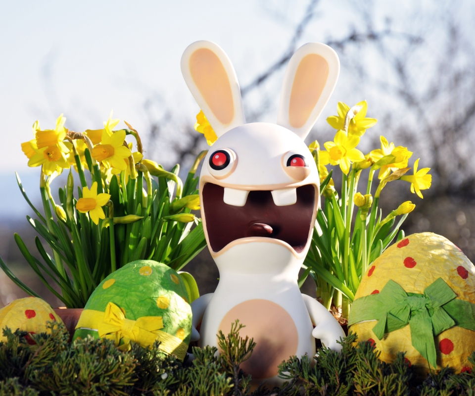 Screenshot №1 pro téma Funny Ugly Easter Bunny 960x800