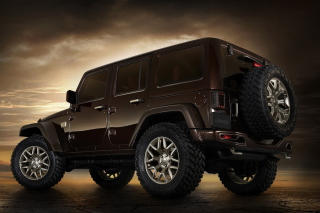Jeep Wrangler Rubicon hardtop Background for Android, iPhone and iPad