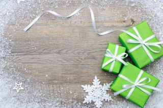 Green Christmas Gift Boxes Picture for Android, iPhone and iPad