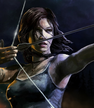 Lara Croft With Arrow sfondi gratuiti per Nokia Lumia 800