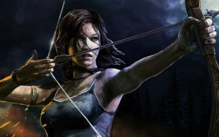 Lara Croft With Arrow Wallpaper for Android, iPhone and iPad