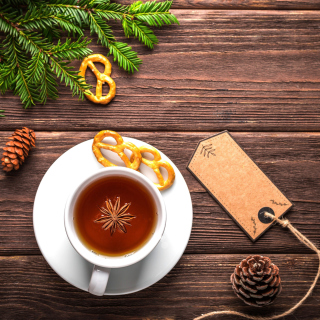 Christmas Cup Of Tea Wallpaper for iPad 3