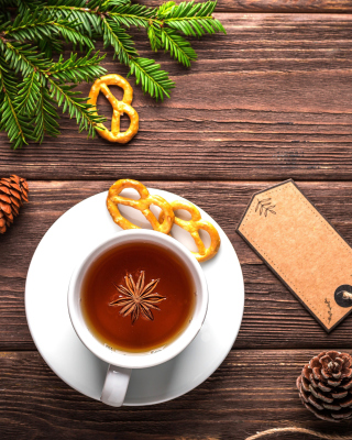 Christmas Cup Of Tea Wallpaper for Nokia C2-02