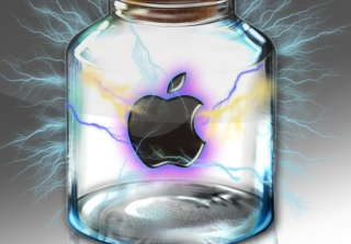 Apple In Bottle Picture for Android, iPhone and iPad