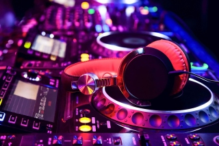 DJ Equipment in nightclub Background for Android, iPhone and iPad