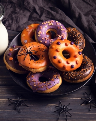 Halloween Donuts Background for Nokia Asha 310