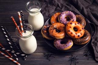 Halloween Donuts Background for Nokia X2-01