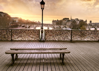 Free Bench In Paris Picture for Android, iPhone and iPad