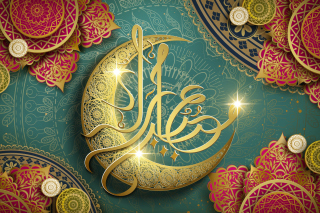 Free Ramadan Design Eid Mubarak Arabic Calligraphy Picture for Widescreen Desktop PC 1280x800