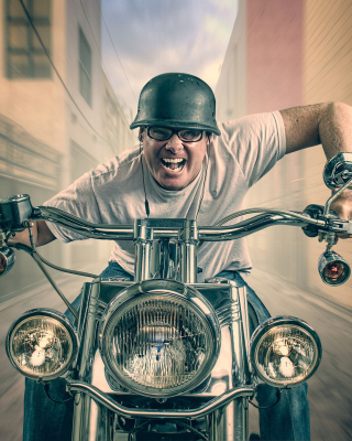 Crazy Scooter Driver Picture for 640x960