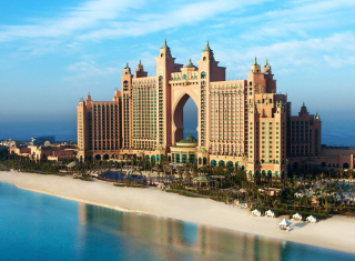 Hotel Atlantis UAE Background for Android, iPhone and iPad