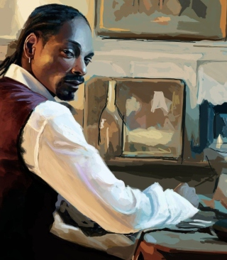 Snoop Dog Portrait Painting Wallpaper for 128x160