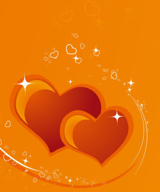 Orange Hearts sfondi gratuiti per Nokia Lumia 1520