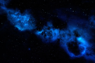 Blue Space Cloud Picture for Android, iPhone and iPad