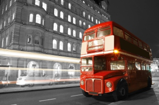 Red London Bus Background for Android, iPhone and iPad