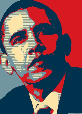 Barack Obama Art Background for Nokia Asha 311