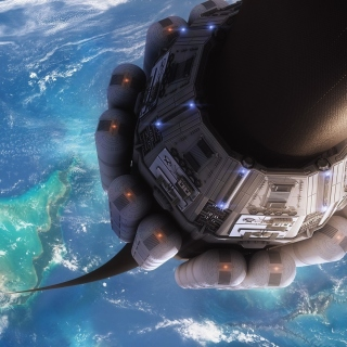 Free Technological lift to space Picture for iPad 3