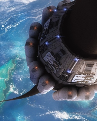 Technological lift to space Wallpaper for Nokia Asha 310
