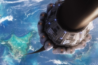 Free Technological lift to space Picture for HTC Raider 4G
