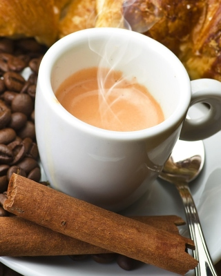 Hot coffee and cinnamon Wallpaper for Nokia Asha 306