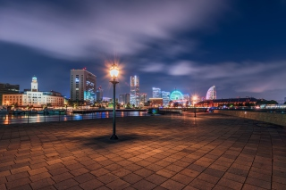 Yokohama - City in Japan Background for Android, iPhone and iPad