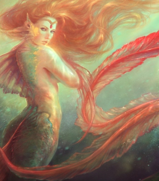 Mermaid Painting Wallpaper for iPhone 6 Plus