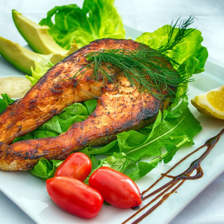Salmon steak sfondi gratuiti per 1024x1024