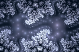 Free Snow Fractals Abstract Picture for Android, iPhone and iPad