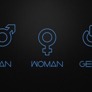 Man Woman Geek Signs sfondi gratuiti per iPad mini