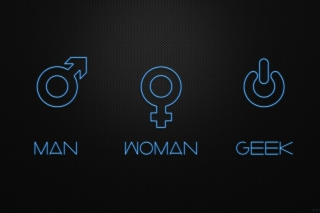 Man Woman Geek Signs Picture for Android, iPhone and iPad
