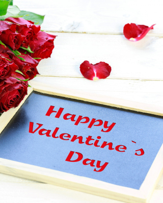 Free Happy Valentines Day with Roses Picture for 320x480