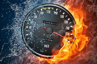 Fire Speedometer Wallpaper for Android, iPhone and iPad