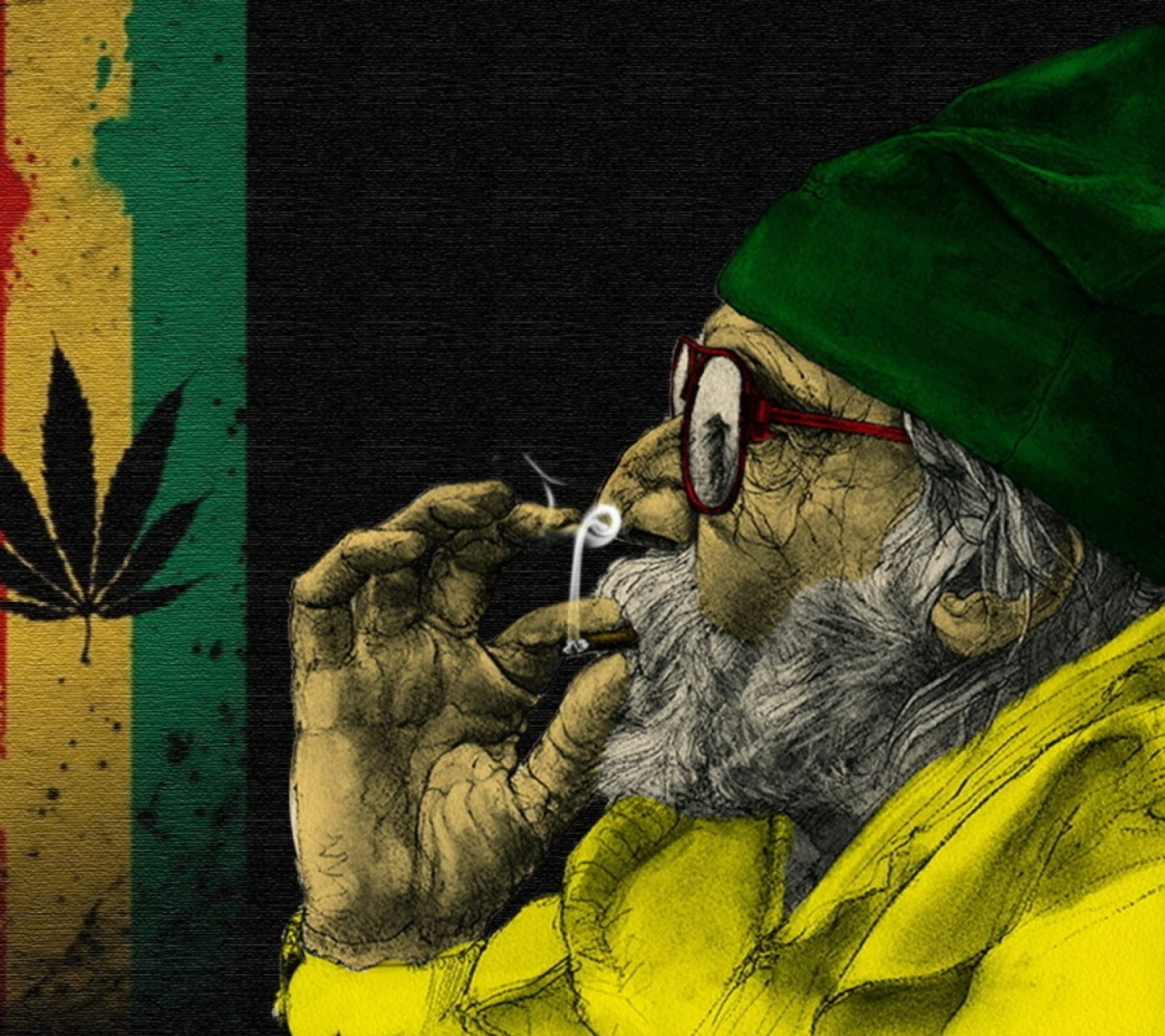 Screenshot №1 pro téma Rastafari and Smoke Weeds 1440x1280